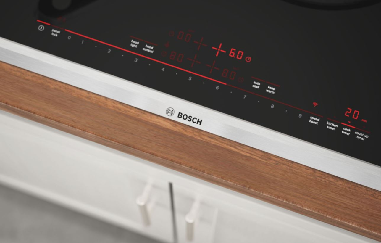 close-up of Bosch induction cooktop