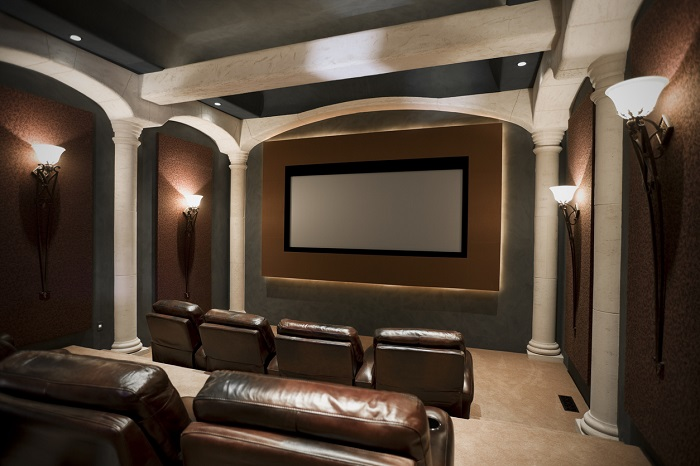 Luxurious home theatre.