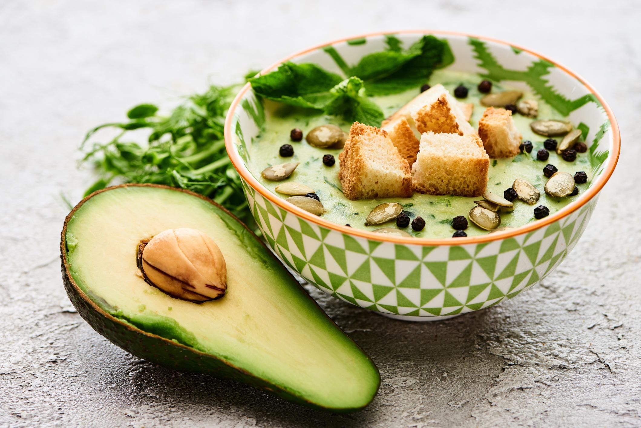 fresh and creamy avocado soup