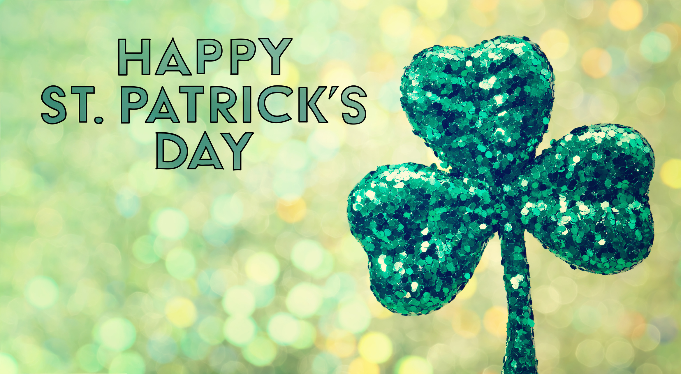 paddy's day header with a clover