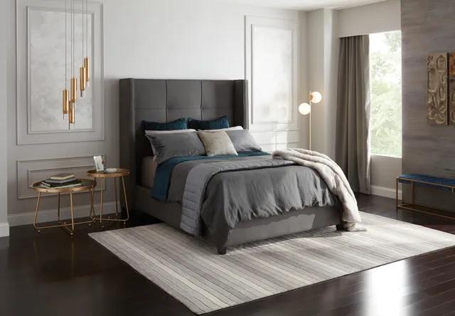 Firm hybrid mattress in a luxury bedroom