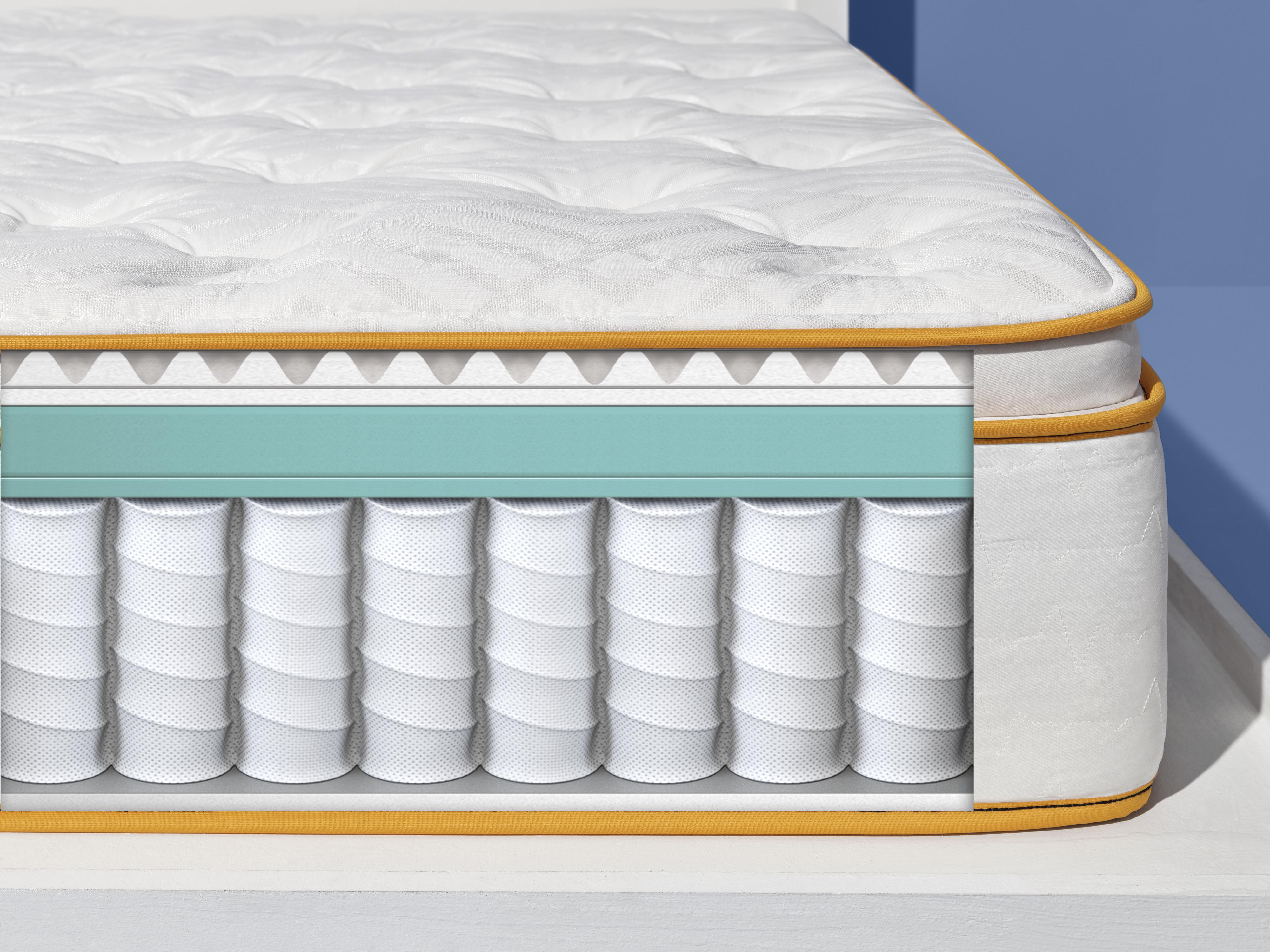 graphic cutaway of hybrid mattress
