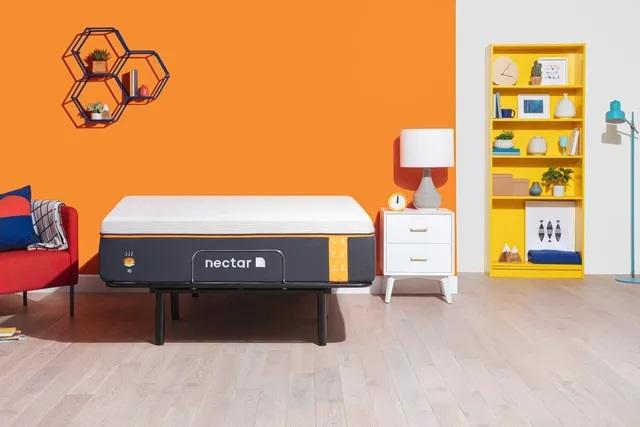 Front view of Nectar 850008309939 memory foam mattress