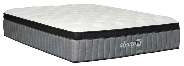 Stock photo of a sleep fit twin sized mattress.