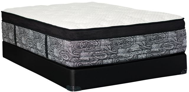 Stock photo of a twin sized mattress with a paisley interior.