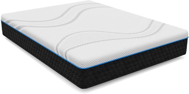 Stock photo of a twin sized mattress.