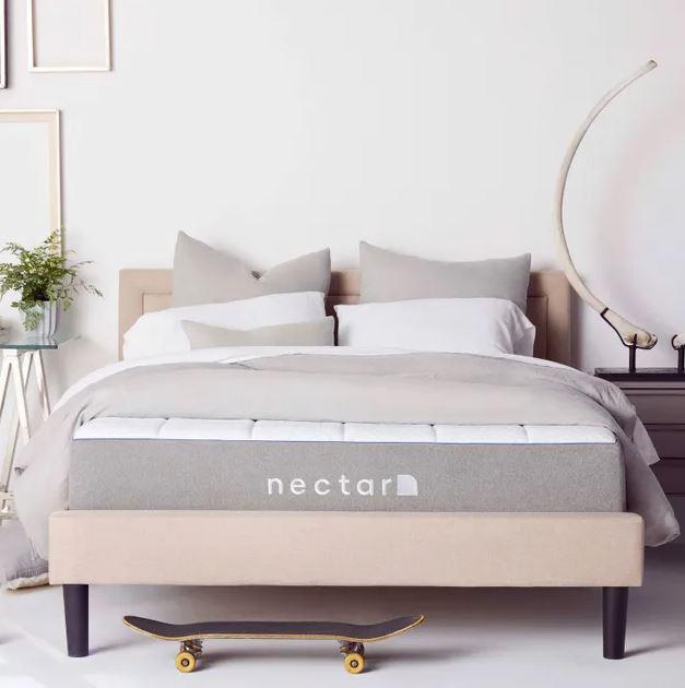Nectar mattress in a modern bedroom