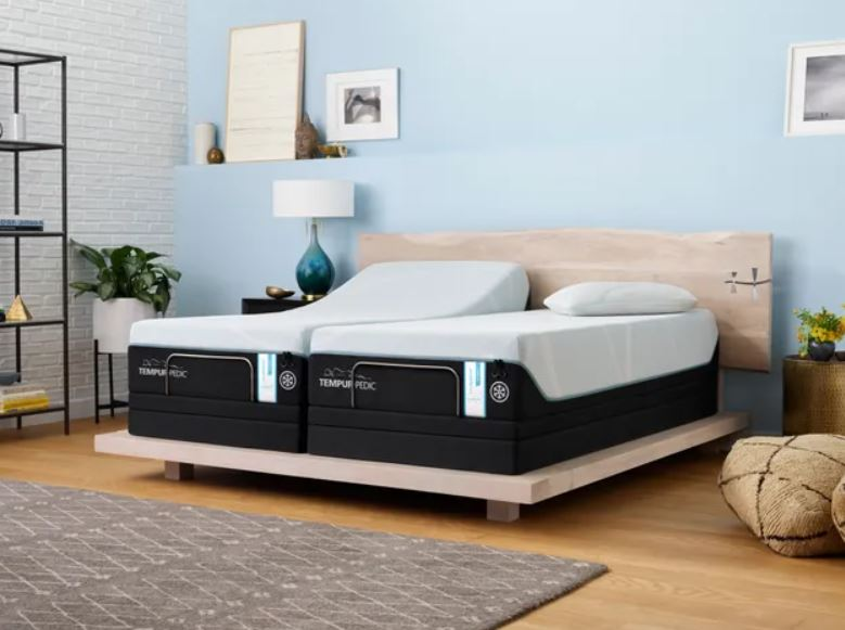 double pro-breeze mattresses with adjustable bases
