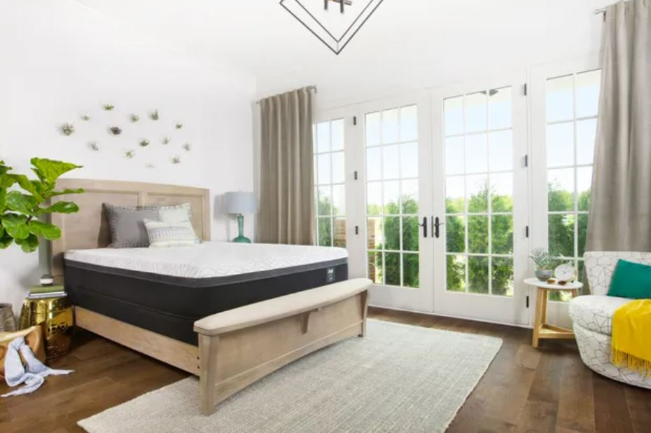 Sealy mattress in a master bedroom
