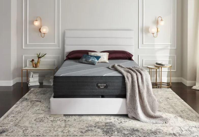 luxury bedroom with Beautyrest Black mattress