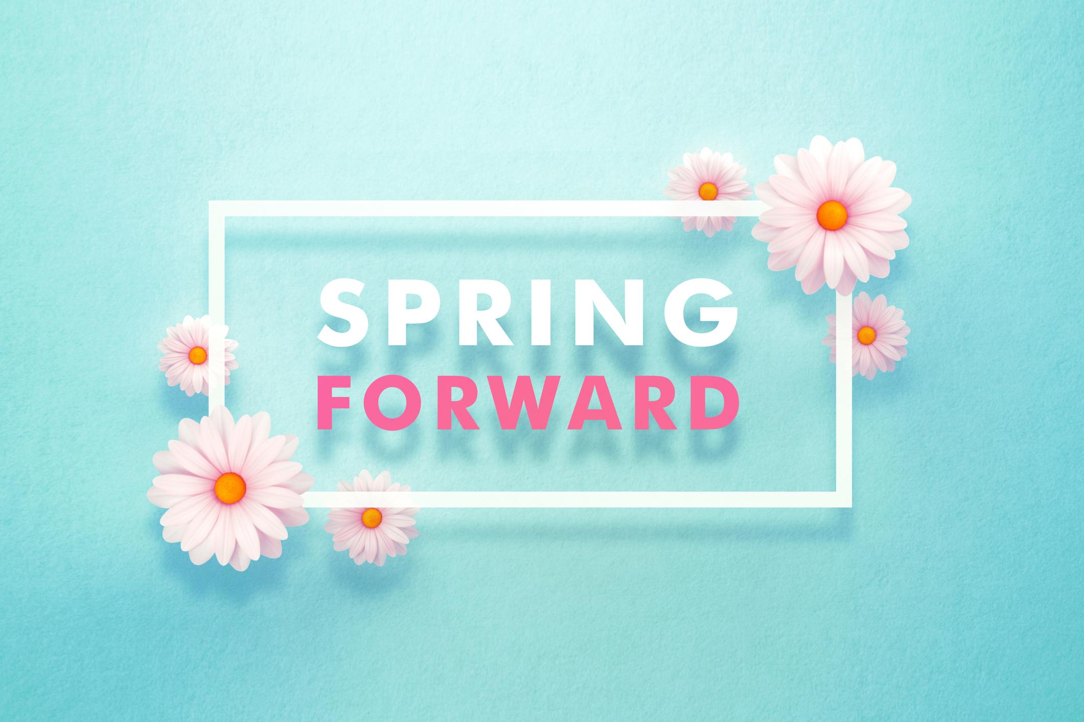 spring forward sign