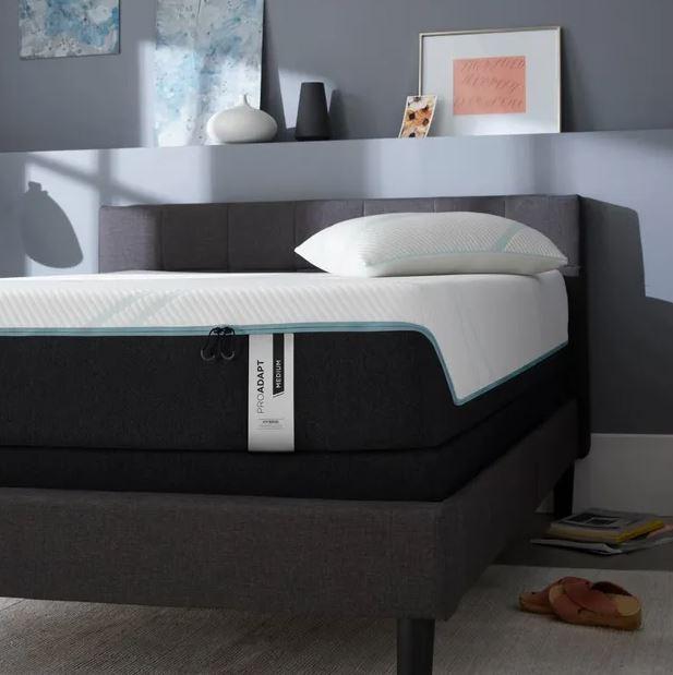 modern bedroom with Tempur mattress