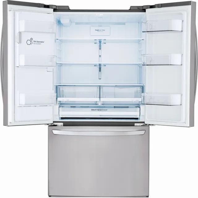 LG LFXC22526S French door refrigerator with doors open