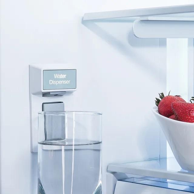 Internal water dispenser inside Beko BFFD3624SS refrigerator