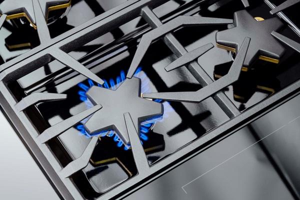 Overhead shot of Thermador Star burner