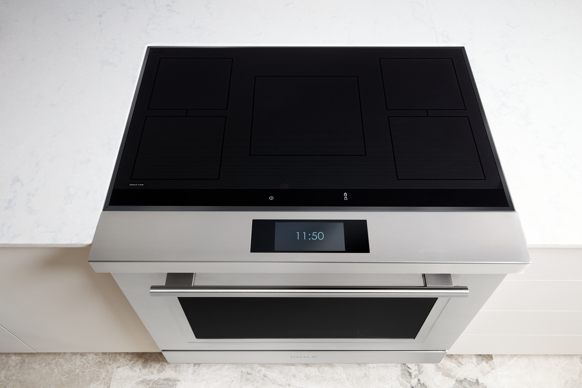 overhead of wolf 36 inch induction range