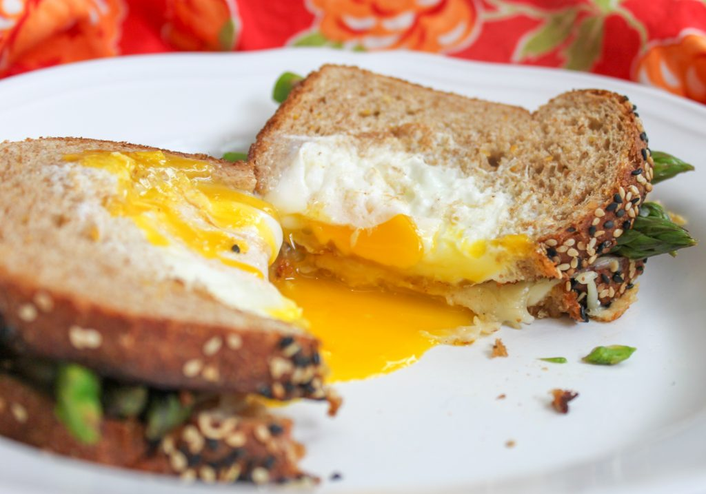 Egg in a basket grilled cheese