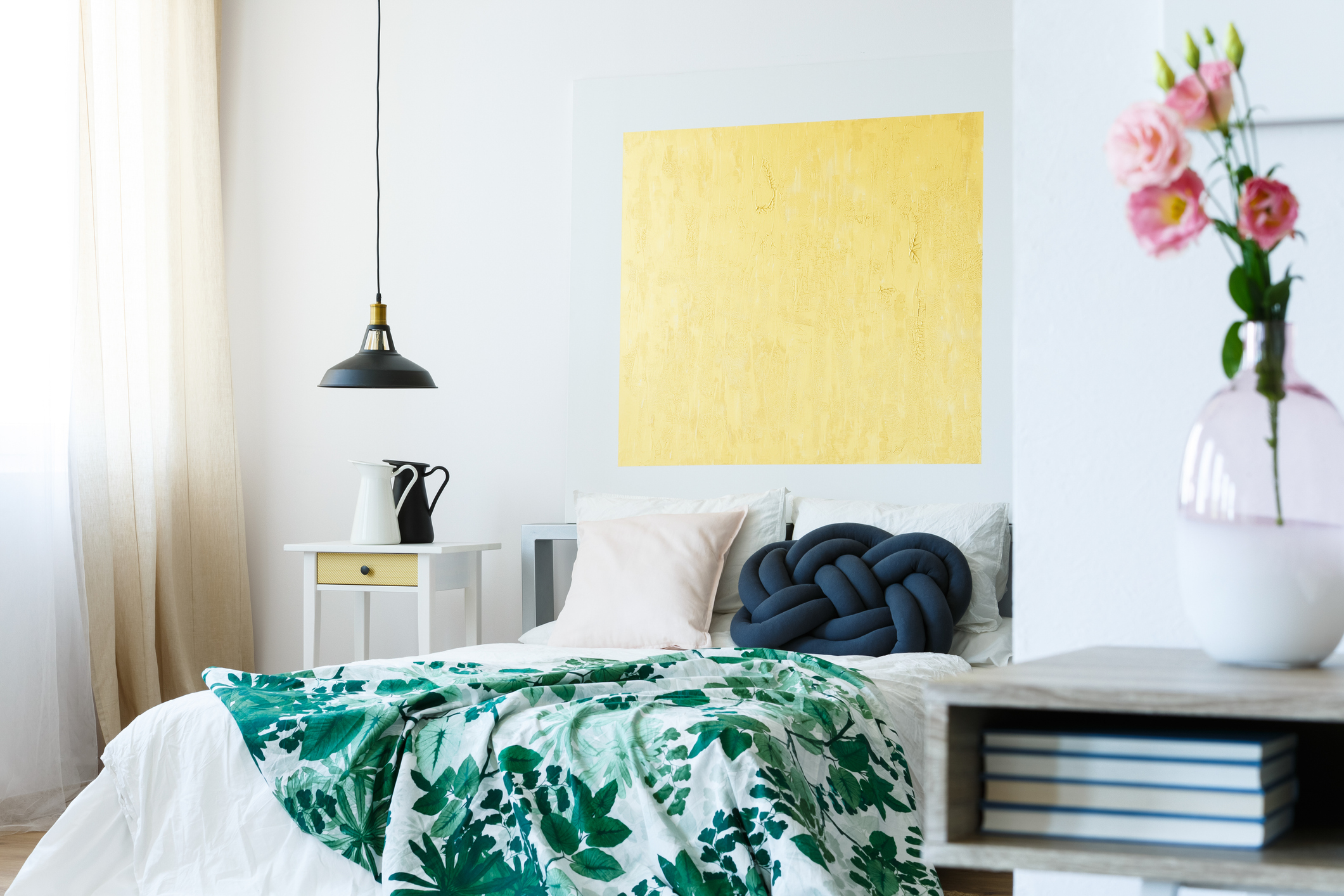 colorful and calming bedroom