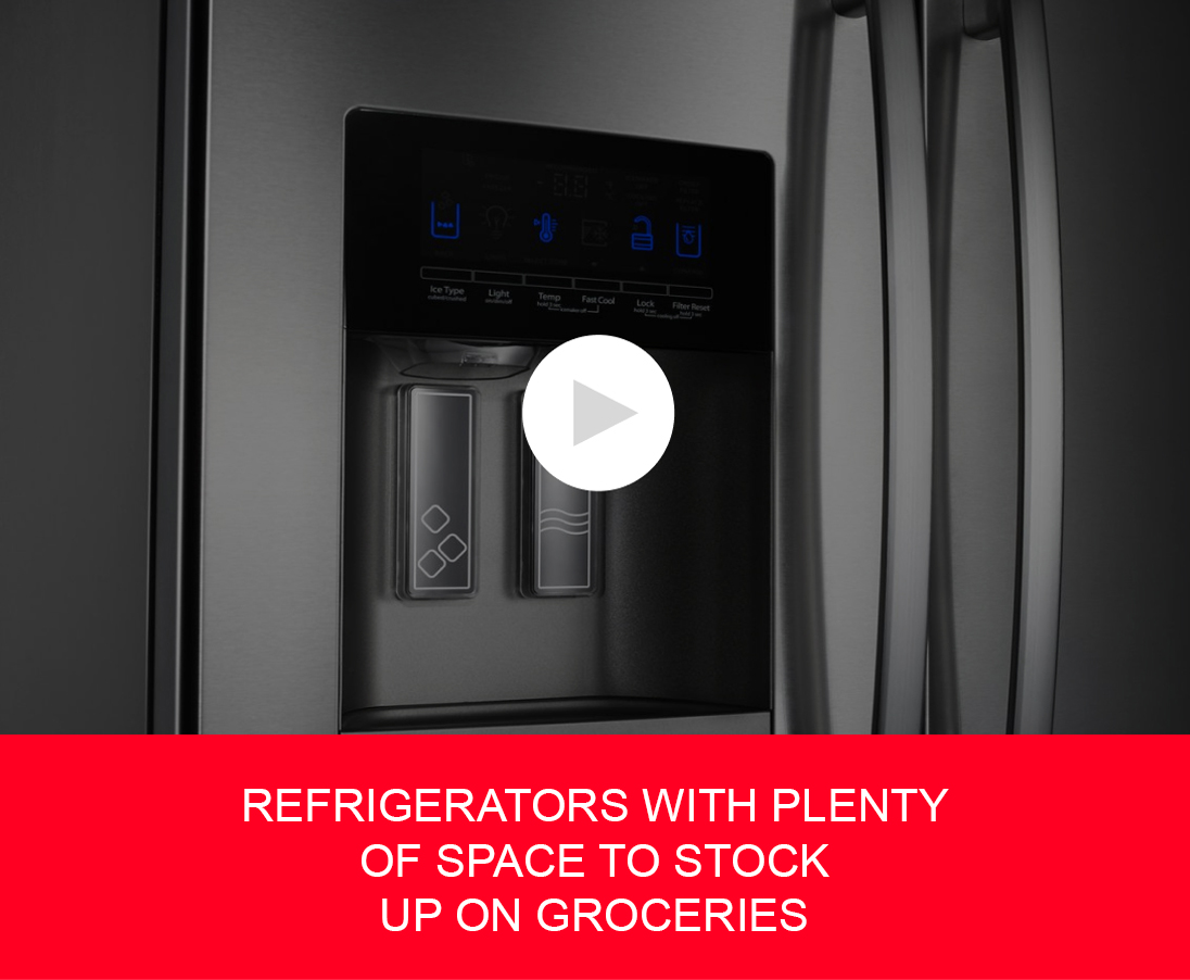 REFRIGERATORS WITH PLENTY OF SPACE TO STOCK UP ON GROCERIES