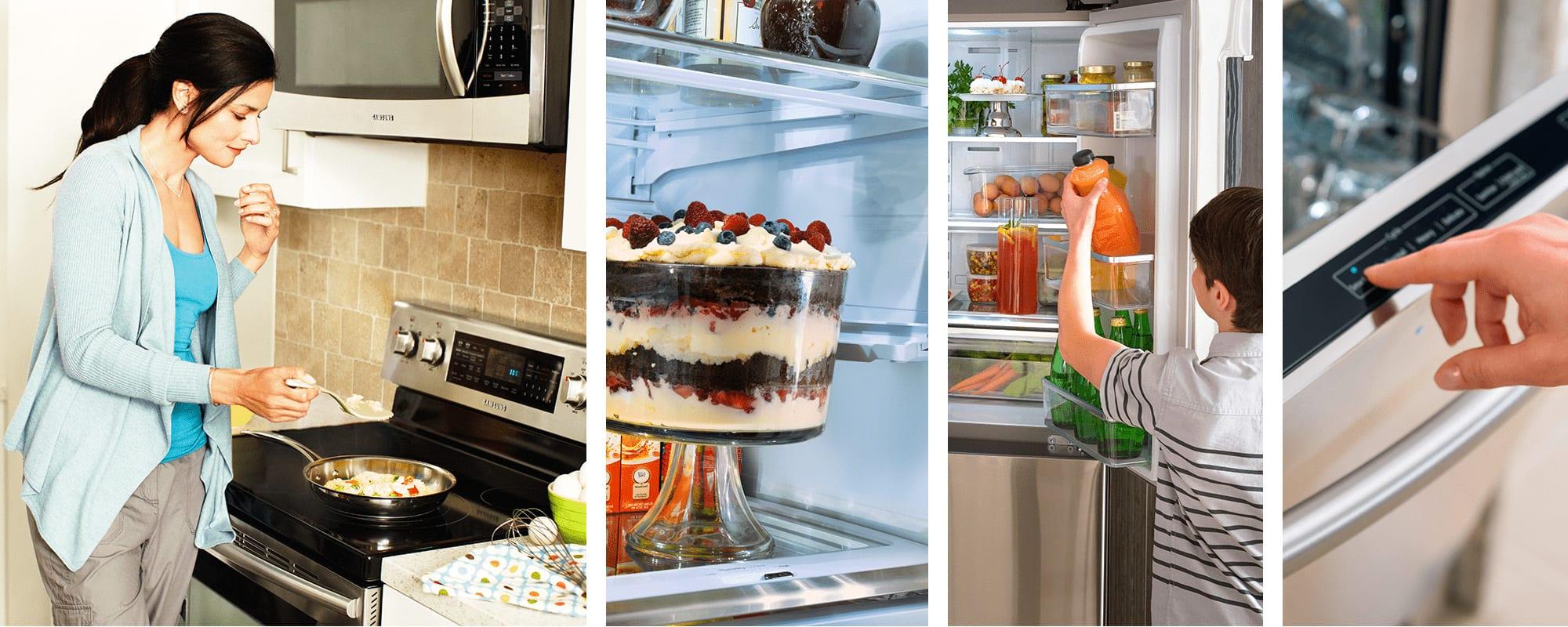 Samsung Appliances Lifestyle Collage