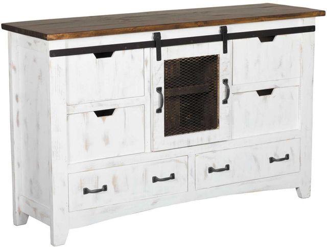 International Furniture© 360 Pueblo White Dresser-IFD360DSR