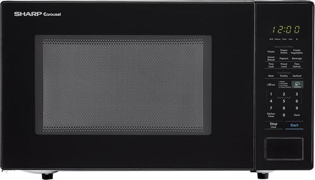 Sharp® Carousel® Countertop Microwave Oven-Black-SMC1441CB