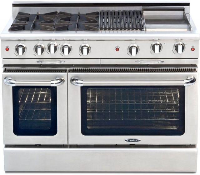 "Capital Culinarian 48"" Stainless Steel Free Standing Gas Range-CGSR484BGL"