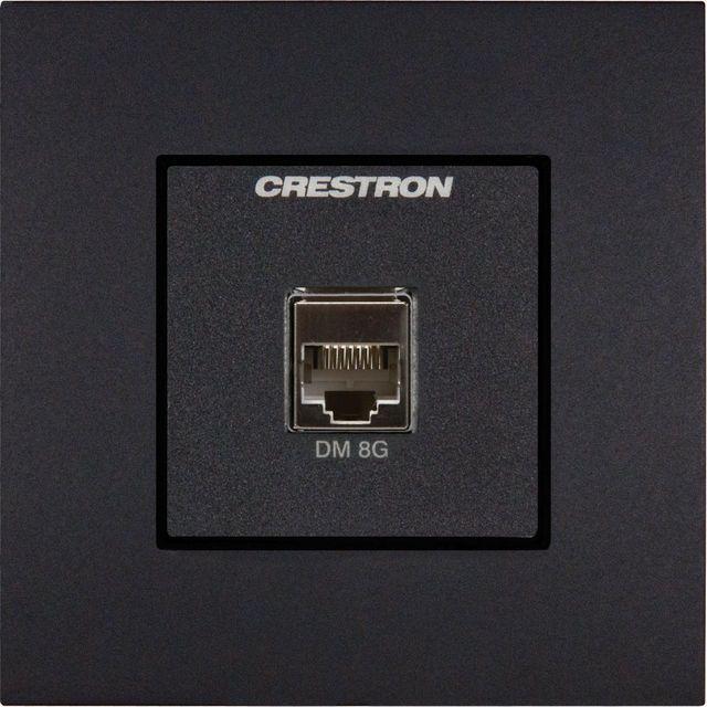 Crestron® Media Presentation Wall Plate-International Version-Anthracite-MPI-WP181-C-122