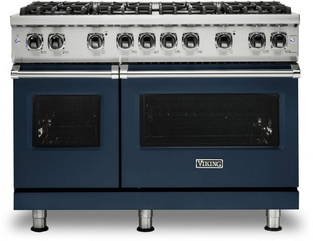 "Viking® 5 Series 48"" Slate Blue Pro Style Liquid Propane Gas Range-VGR5488BSBLP"