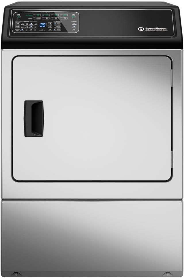 Speed Queen® 7.0 Cu. Ft. Stainless Steel Gas Dryer-DF7000SG