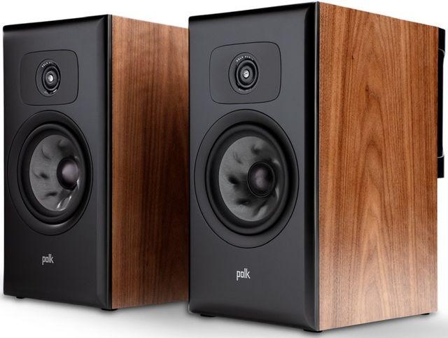 "Polk Audio® LEGEND L200 Brown Walnut 6.5"" Large Premium Bookshelf Speakers (Pair)-AM8920"