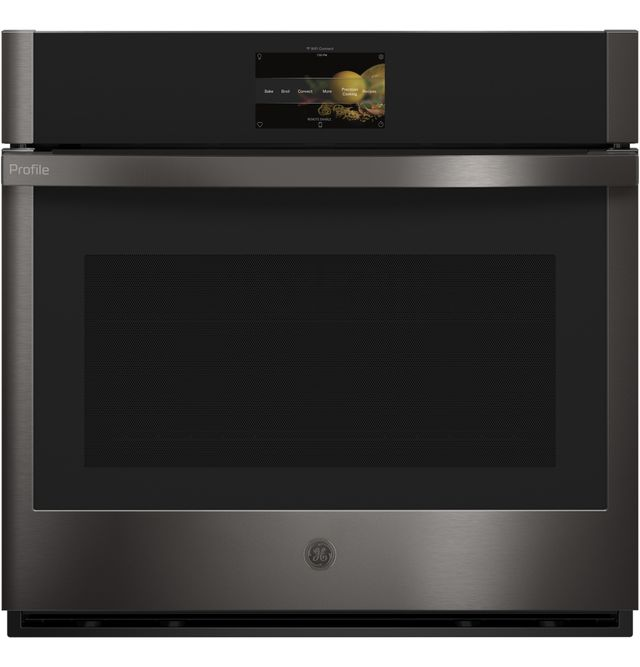 """GE Profile™ 30"""" Black Stainless Electric Single Oven Built In-PTS9000BNTS"""