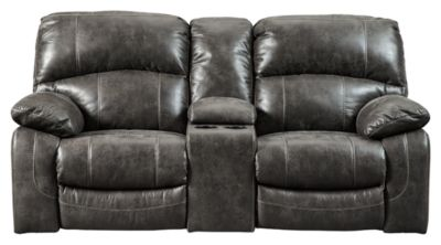 Signature Design by Ashley® Dunwell Steel Power Reclining Loveseat with Console and Adjustable Headrest-5160118
