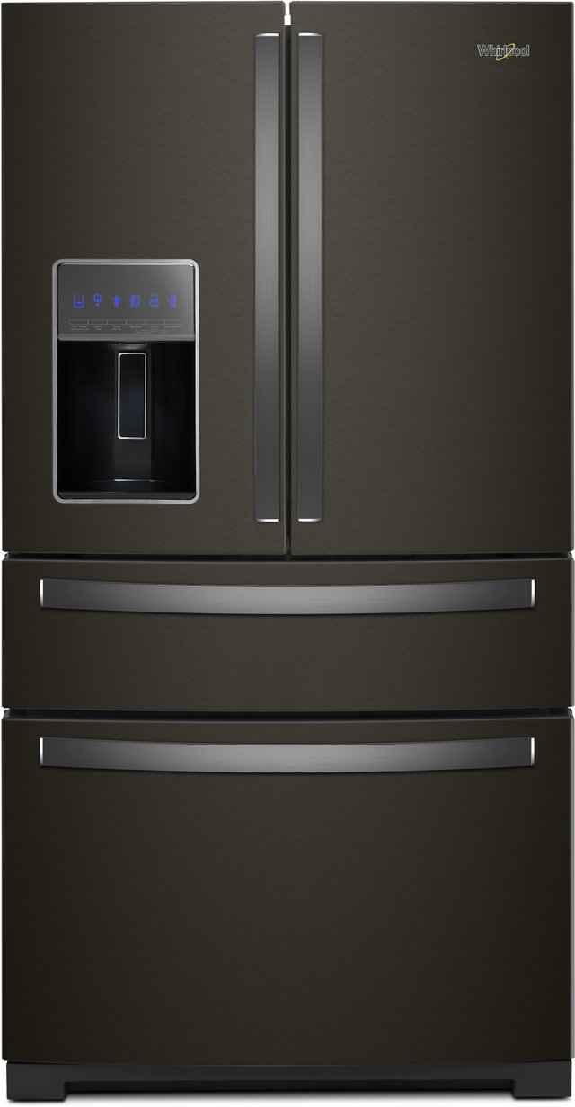 Whirlpool® 26.2 French Door Refrigerator-Fingerprint Resistant Black Stainless Steel-WRX986SIHV