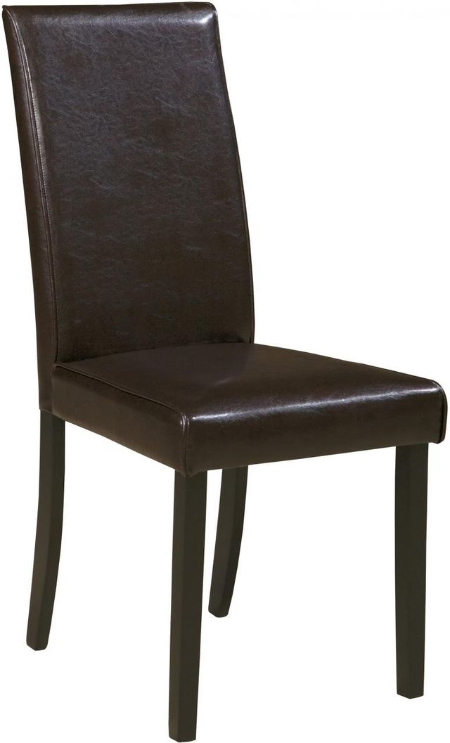 Signature Design by Ashley® Kimonte Dark Brown Dining Upholstered Side Chair-D250-02