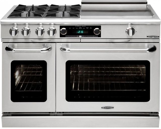 """Capital Connoisseurian 48"""" Stainless Steel Free Standing Dual Fuel Range-COB484GGN"""