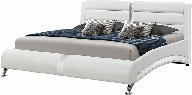 Coaster® Jeremaine White Upholstered Queen Bed-300345Q