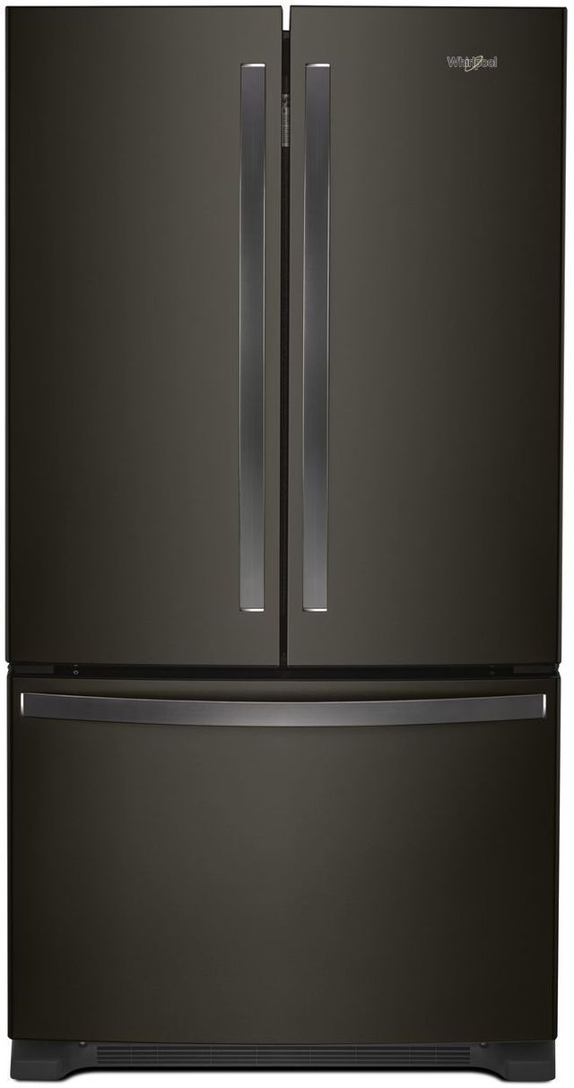Whirlpool® 25.19 Cu. Ft. French Door Refrigerator-Fingerprint Resistant Black Stainless-WRF535SWHV
