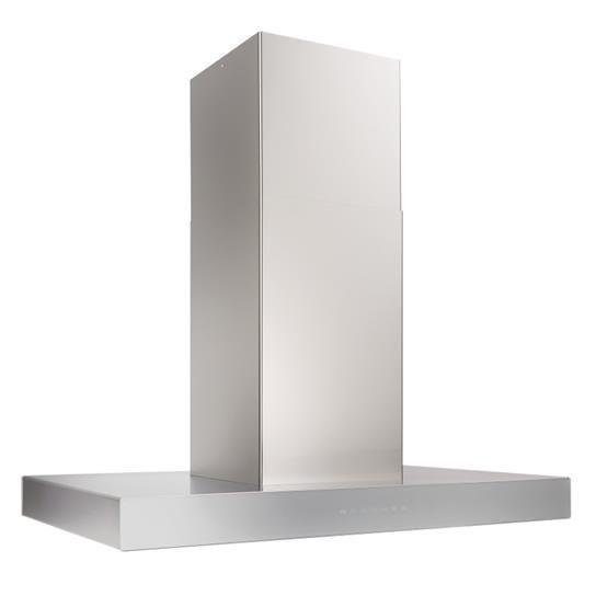 "Best® Ispira 36"" Stainless Steel Brushed Grey Glass Island Range Hood-ICB3I36SBS"