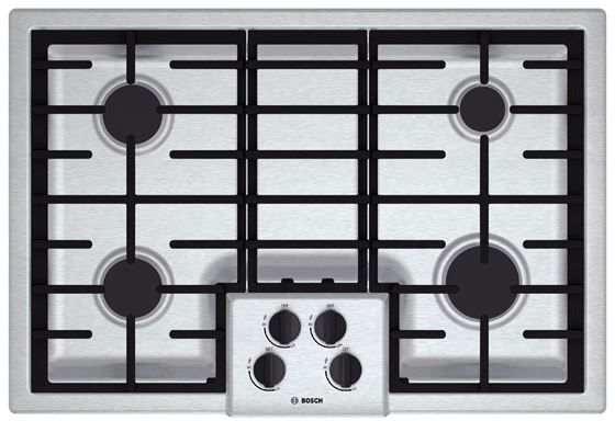 """Bosch 500 Series 30"""" Gas Cooktop-Stainless Steel-NGM5055UC"""