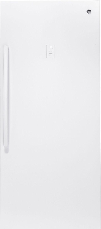 GE® 21.3 Cu. Ft. Upright Freezer-White-FUF21SMRWW