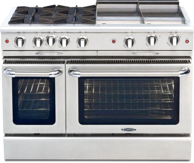 "Capital Culinarian 48"" Stainless Steel Free Standing Gas Range-CGSR484GGL"