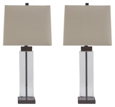 Signature Design by Ashley® Alvaro Set of 2 Clear/Bronze Table Lamps-L431374