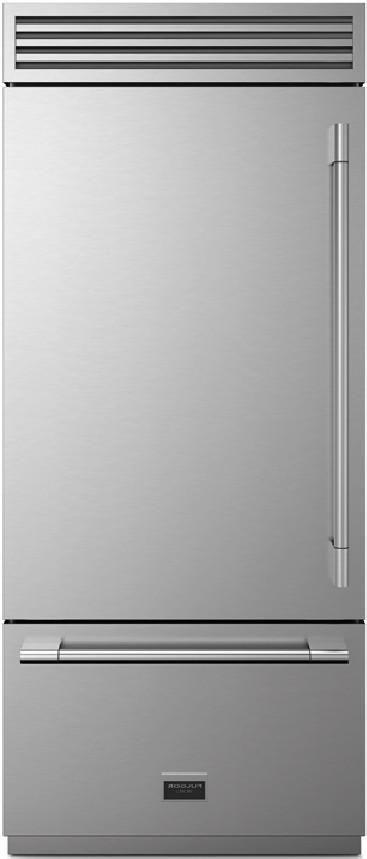 Fulgor Milano Sofia 18.5 Cu. Ft. Stainless Steel Professional Built In Bottom Freezer Refrigerator-F7PBM36S1-L
