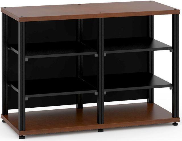 Salamander Designs® Synergy Twin 30 AV Cabinet-Dark Cherry/Black-SN30C/B