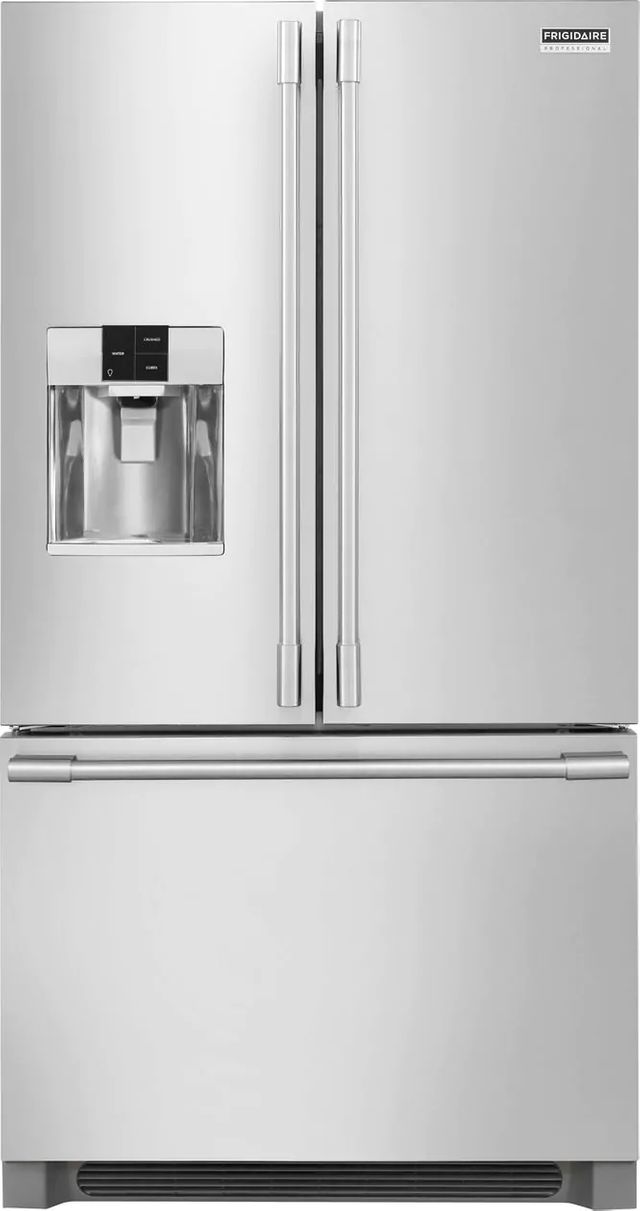 Frigidaire Professional® 21.6 Cu. Ft. Stainless Steel French Door Counter Depth Refrigerator-FPBC2278UF