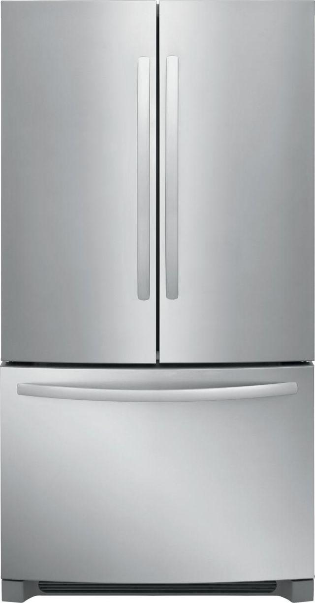 Frigidaire® 27.6 Cu. Ft. Stainless Steel French Door Standard Depth Refrigerator-FFHN2750TS