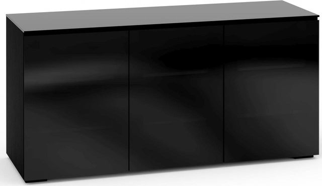 Salamander Designs® Oslo 337 AV Cabinet-Black Glass-C/OS337/BG