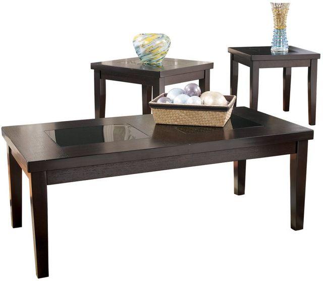 Signature Design by Ashley® Denja Dark Brown Occasional Table Set (3/CN)-T281-13