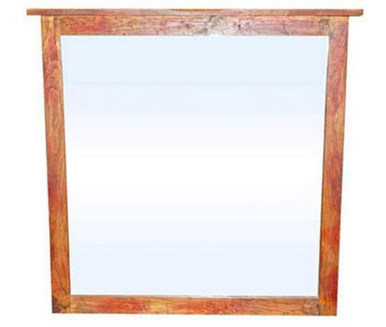 Million Dollar Rustic Red Rubbed Bedroom Mirror-02-2-56-55-M
